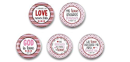 Refrigerator Magnets - Bible Verse Magnets - Scripture Magnets - Wedding Favor - Fridge Magnet
