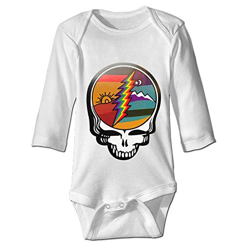 YSKHDBC Grateful Dead Steal Your Face Baby Onesies Long-Sleeve Infant Romper Unisex