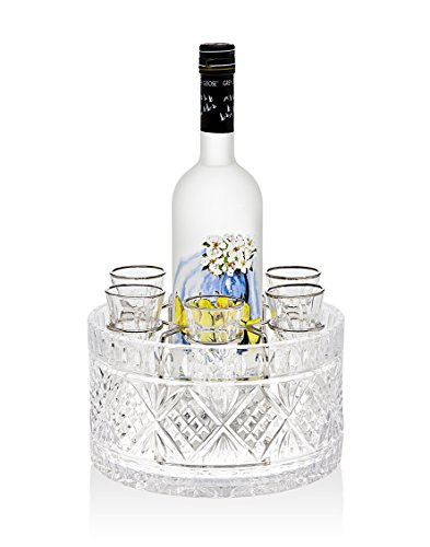 Shooter Glass Set (Godinger Silver Art Dublin 8-piece Drink Vodka 1.5 Oz. Shot Glasses Shooters Liquor Set)