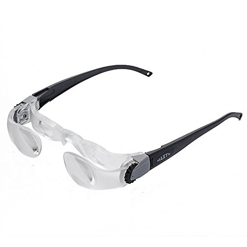 Holulo New Max TV Television Magnifying Glasses 2.1X 0 to +300 Degree Goggles Magnifier (Far-Sightedness) (Glass Tv Bench)