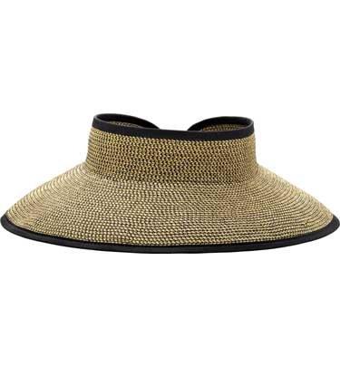 San Diego Hat Company UPF 50+ Roll Up Wide Brim Sun Visor Hat - Ultra Braid