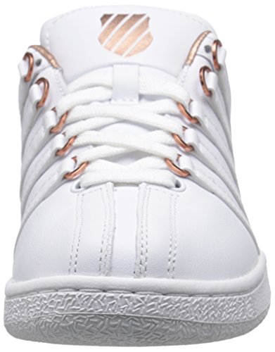 VN K White Rose Swiss Athletic Classic Aged Shoe Gold Foil Women's xP1trpwP