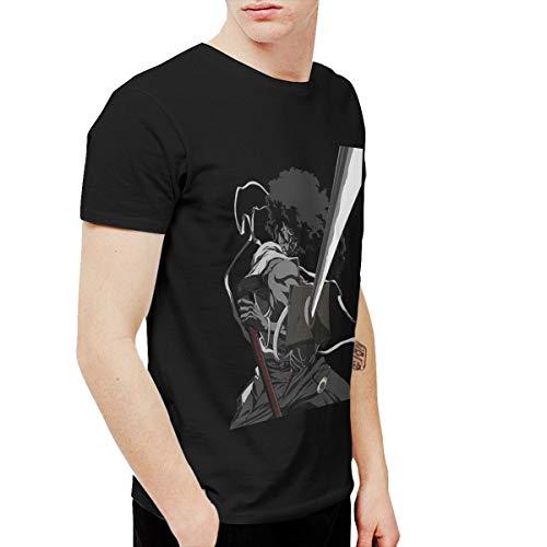 CLANN Afro Samurai Anime Short Sleeve T-Shirt Black 6XL]()