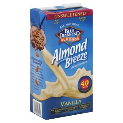 Blue Diamond Almond Breeze Unsweetened Vanilla 64 Oz (Pack of 8) by Blue Diamond