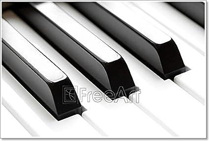 amazon com barewalls piano keyboard macro paper print wall art
