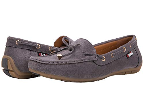 GLOBALWIN Women's Grey Loafer Shoes 6.5 M US
