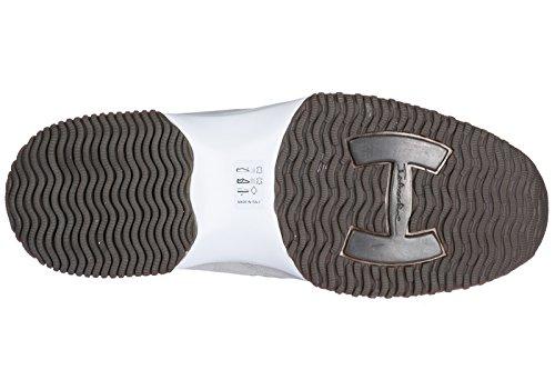 Hogan Scarpe Sneakers Uomo camoscio Nuove Interactive Slip On Bianco