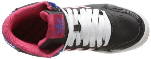 adidas Originals Midiru Court Mid 2.0 W, Damen Sneaker Noir (Black/Pink/Bluebird)