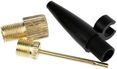 Perfeclan Ball Needle Inflator Pump Presta Valve Adapter+Pump Extension Hose