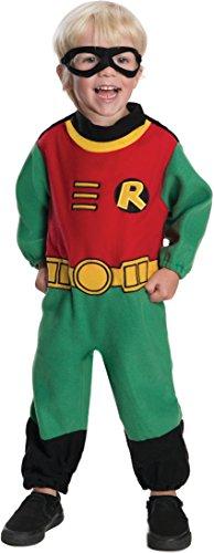 Rubie's Baby Boy's Teen Titans Robin Romper Costume, Multi, 12-24 Months