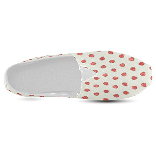 InterestPrint Strawberry Casual Women's Canvas Slip-On Shoes Espadrille 30%OFF