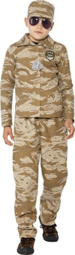 [Desert Army Costume - Large Age 10-12] (Womens Army Costumes Australia)