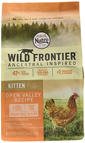 Wild Frontier Kitten Grain Free Dry Cat Food Chicken Flavor, 5 Lb. Bag