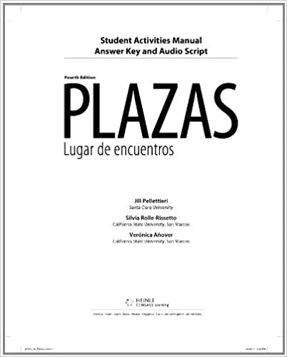 Amazon student activity manual answer key and audio script for student activity manual answer key and audio script for hershbergernavey davisborrs as plazas 4th 4th edition fandeluxe Gallery