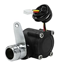 """uxcell® Electronic Hall Effect Water Flow Counter Sensor 1-30L/min G3/4"""""""