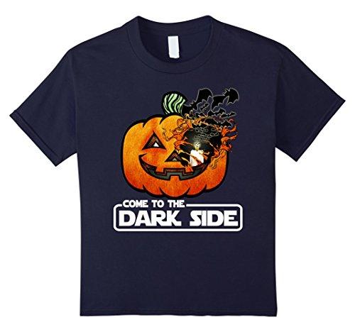 Kids Come To The Dark Side Pumpkin Halloween T-Shirt 12 (Dark Side Halloween)