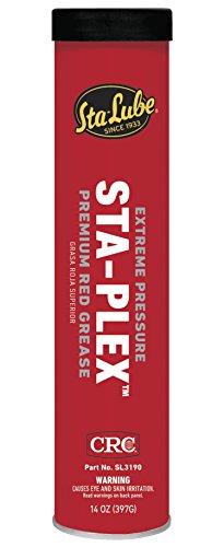 CRC SL3190 Sta-Plex Extreme Pressure Premium Red Grease, 14oz Cartridge - High Pressure Grease