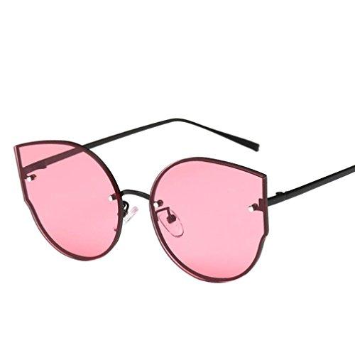 Las Gafas Mujeres Gato Marca con Clásico Estilo Colores Espejo Retro Ojo sol VENMO Rojo de TAqwdxgnZA
