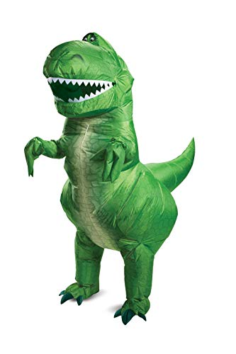 Disguise Rex Inflatable Adult Costume Adult Costume, Green, One Size Adult -
