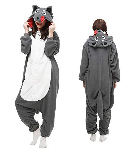 Unisex Wolf Onesie Cosplay Costums, Animal Pajamas Christmas