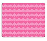 Liili Mouse Pad Natural Rubber Mousepad IMAGE ID: 24927424 Dark Pink Valentine Hearts on Lighter Pink Background