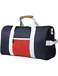 77df9a3cef Sports Gym Bag Small Travel Duffel Bag Water Resistant Bags with Leather  Handle Color Blocking Design