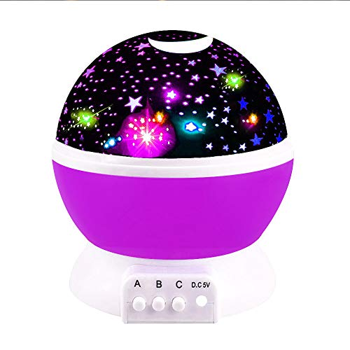 Our Day Toys for 2 3 4 5 6 Year Old Boys, Night Light Moon Star Projector Best Gifts for Kids Toys for 7-10 Year Old Boys 2-10 Year Old Boy Girl Gifts Toys 2018 Chritmas New Gifts Purple ODUSSXK06