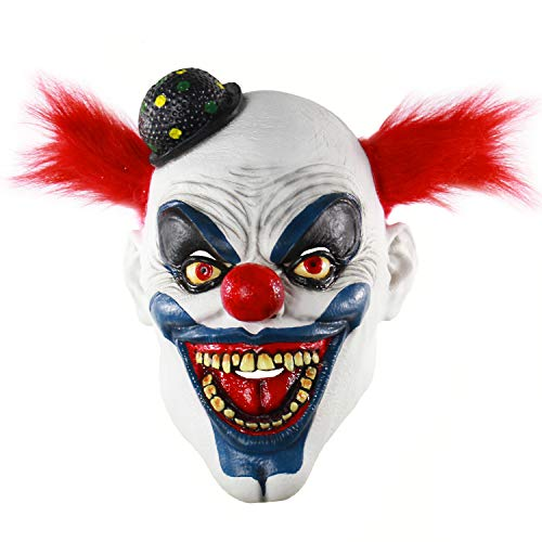 - Xiao Chou Ri Ji Adult Evil Clown Latex Mask Halloween Costume Cosplay Props