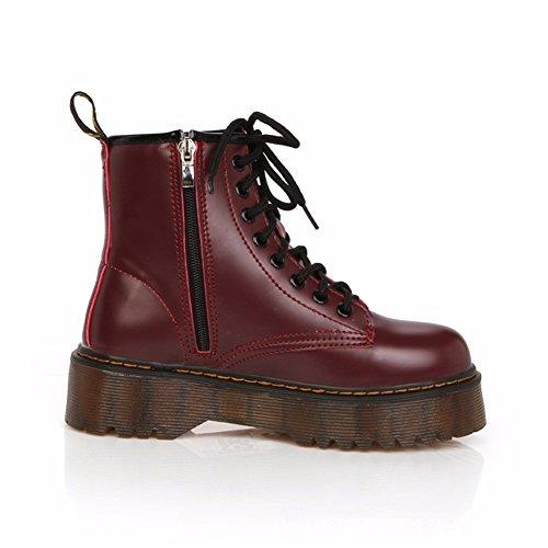 Yall Las Mujeres Botas De Suela Gruesa Martin Botas De Tacón Botas Punk Zipper Otoño Invierno Zapatos: Amazon.es: Zapatos y complementos
