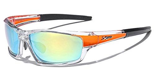 Wrap Around Cycling Ski Baseball Water Sports Sunglasses - Clear & - Loop Sunglasses X Sports