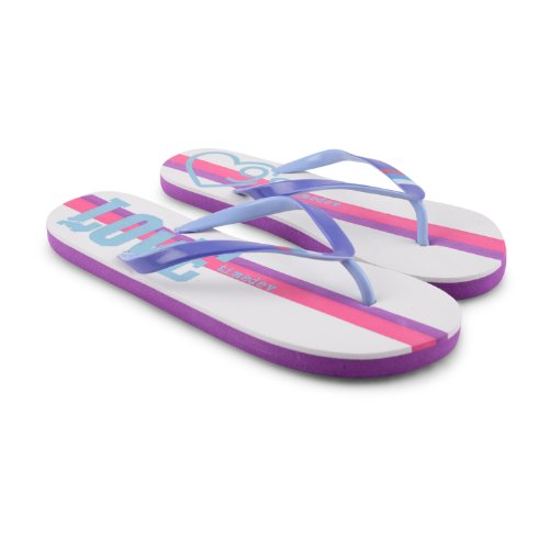 Footwear Sensation - Chanclas para mujer negro negro negro - White Purple
