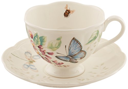 Lenox Butterfly Meadow Blue Butterfly Cup and Saucer Set ()