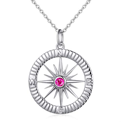 Mountain Stone Jewelry - S925 Sterling Silver Compass No Matter Where Bracelet and Pendant Necklace 18