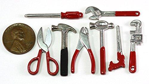 Dollhouse Miniature Set of 8 Tools