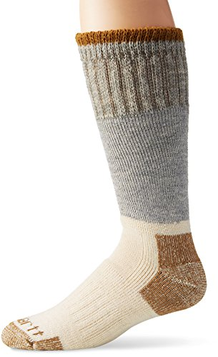 Carhartt Men's Extremes Wool Arctic Boot Socks, Grey, Shoe Size: 6-12