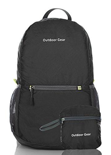 Packable Handy Lightweight Travel Backpack Daypack-new-black