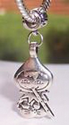 Glamorise Beads #13786 Pied Piper Children's Fairy Tale Dangle Bead for Silver European Charm Bracelets