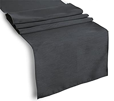 Tablecloth Runner Polyester 12 X 108 Inch Charcoal By Broward Linens