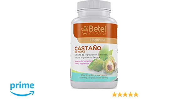 Amazon.com: Castano de Indias para la Circulacion 1000 mg - Horse Chestnut 90 Caps - Betel Natural: Health & Personal Care