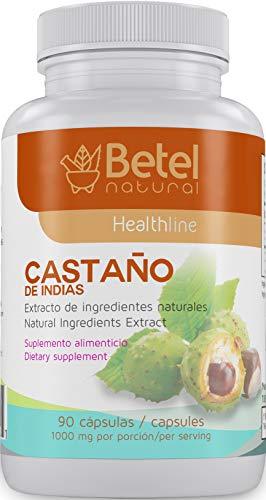 - Castano de Indias para la Circulacion 1000 mg - Horse Chestnut 90 Caps - Betel Natural