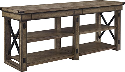 Altra Furniture Ameriwood Home Wildwood Wood Veneer TV Stand for TVs up to 65