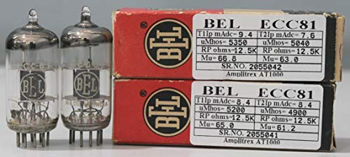 1MP ECC81 12AT7 BEL NOS Nib Made in India Amplitrex Tested#2055042&41 (Best Amplifier For Home In India)