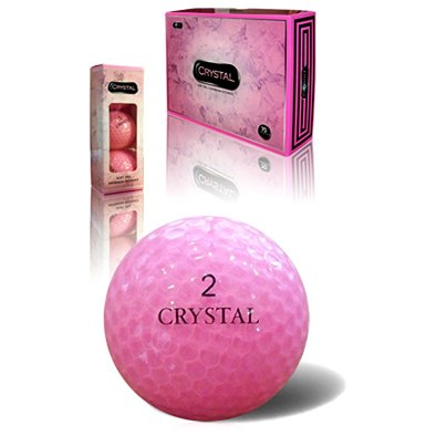 Crystal Soft Feel - Pink - Golf Balls 12 Pack