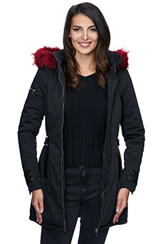 Blouson Creek Rock Noir Selection rouge Femme gvWxPqB