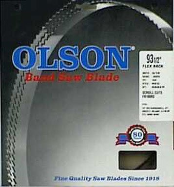 Edge Metal Bands (Olson Hard Edge Flex Back Band Saw Blade Fits All 14-Inch Delta/Rockwell, Jet, Grizzly, Reliant, Enlon, Star, Bridgewood)
