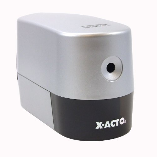 ELMERS X-Acto Model 2000 Electric Pencil Sharpener, Silver (Model 1900 Electric Pencil Sharpener)