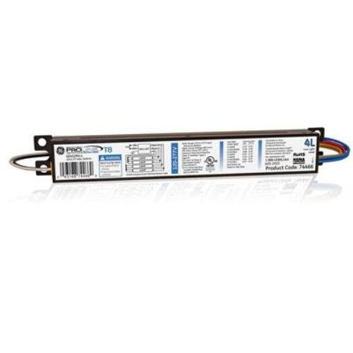 Electronic Ballast Fluorescent Lamp - GE Lighting 74466 GE432MV-L 120/277-Volt Multi-Volt ProLine Electronic Fluorescent T8 Instant Start Ballast 4 or 3 F32T8 Lamps