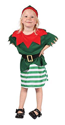 Bristol Novelty Santa Helper Girl Toddler Costume Age 2 -3 Years -
