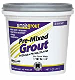 Simple Grout PMG381QT 1 Quart Bright White Pre-Mixed Grout