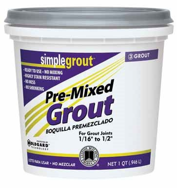 Simple Grout PMG381QT 1 Quart Bright White Pre-Mixed Grout ()